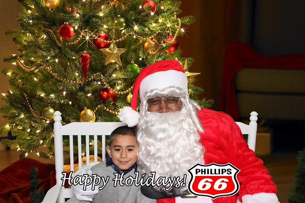 Santa Pics with/ Phillips 66 12.8.18