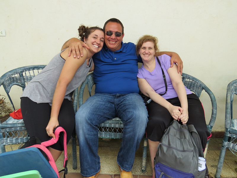 Bree and Elizabeth with Yanel, one of our terrific in-country staff.