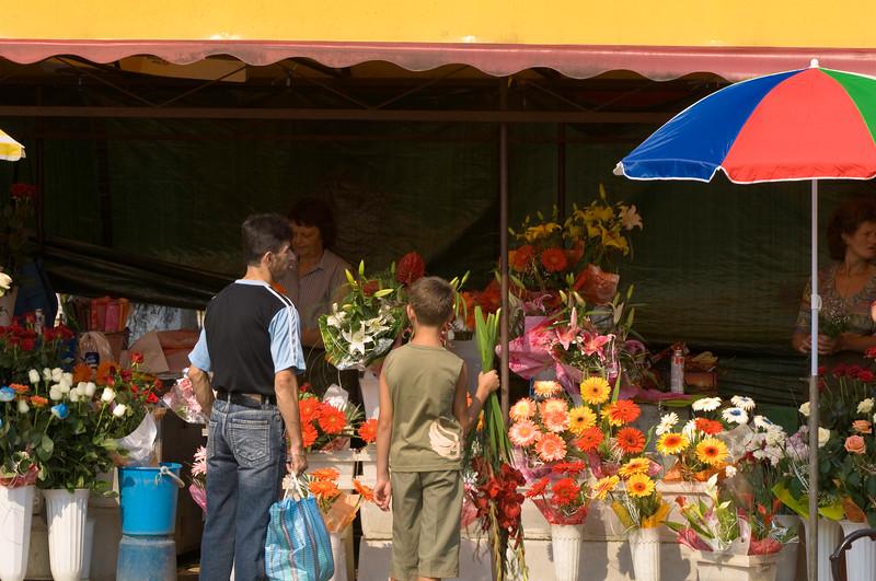 Market stalls, Sighet, Maramures, Romania