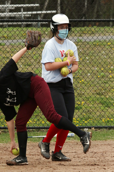 North Middlesex softball practice