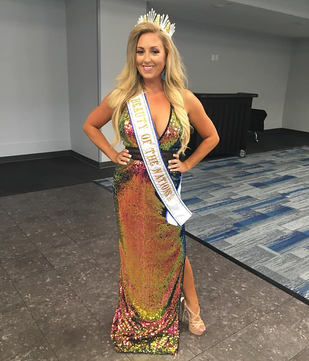 "Allison Wilkinson wins the title of ""International Beauty of the Nations"" in August 2020."