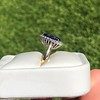 7.00ctw Tanzanite and Diamond Halo Ring 2