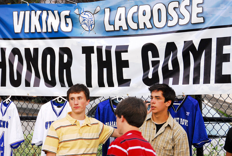 """5/16/07 – Sean's lacrosse team had their awards party this night at """"Momma Tribe's."""" The doctor gave Sean the clearance to finally play, but it was three days after the season ended. The good news is his broken collarbone is completely healed."""