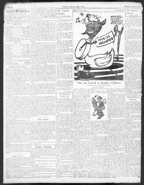 Daily Trojan, Vol. 24, No. 150, May 24, 1933