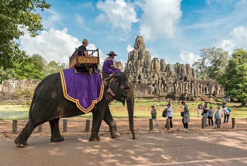 Elephant Ride, Angkor