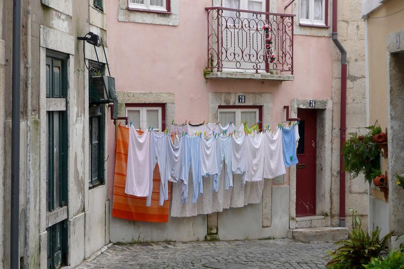 Low Hanging Laudry. Castelo de São Jorge, Alfama, Lisbon