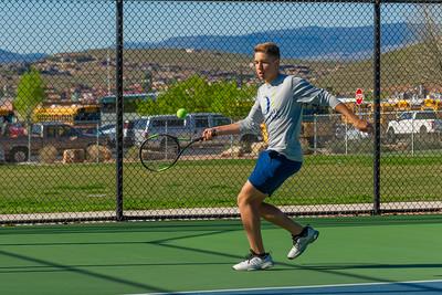 2019-04-13 Dixie HS Tennis - Hayden Kerr