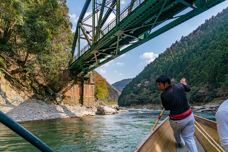 Boating Down the Hozu River