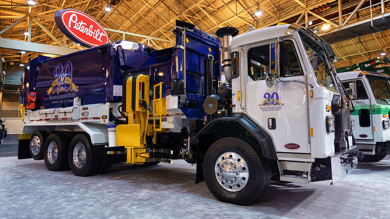 Waste Connections Peterbilt 520 Labrie Automizer Automated Side Loader