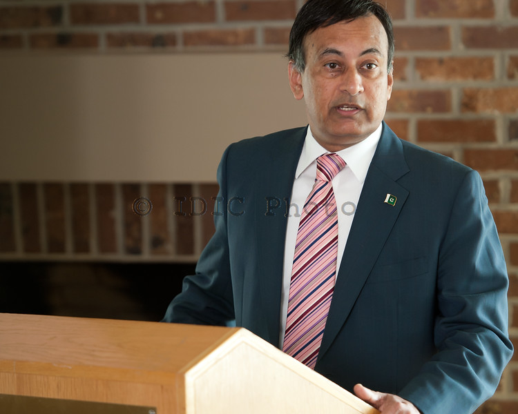 Ambassador Haqqani addressing the audience