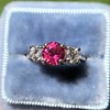 1.71ctw Ruby and Diamond Trilogy Ring 0