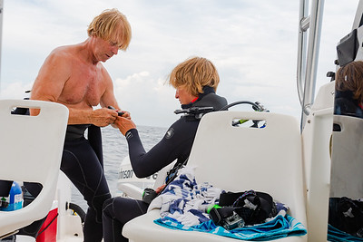 Alex and Alexander SCUBA on the Lizze D Shipwreck
