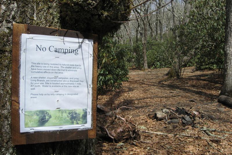 Appalachian Trail - Old Big Spring Camp