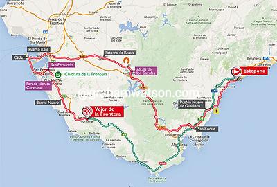 Vuelta a España stage 4: Estepona > Vejer de la Frontera, 210kms