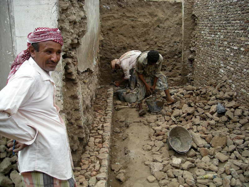 using traditional methods in building restorations in Zabid