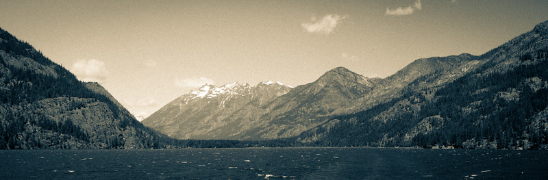Lake Chelan after leaving Stehekin headed South