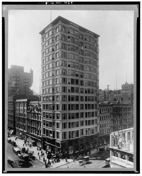 Title: - Reliance Building, 32 North State Street, Chicago, Cook County, IL  c1900 ?  http://www.loc.gov/pictures/collection/hh/item/il0041.photos.060997p/