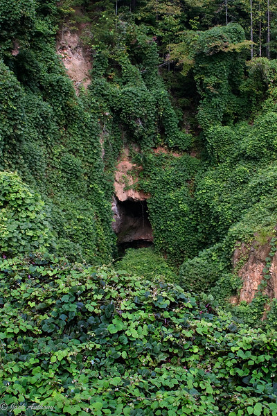 A closed mine entrance at the Consolidaded Gold Mine in Dahlonega, Ga.