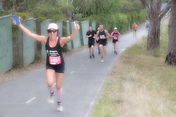 Sri Chinmoy: Yarra Trail, Burnley 2021-02  -- Half Marathon, 14km & 7km Run    Loys Paddock Reserve, Main Yarra Trail, BURNLEY
