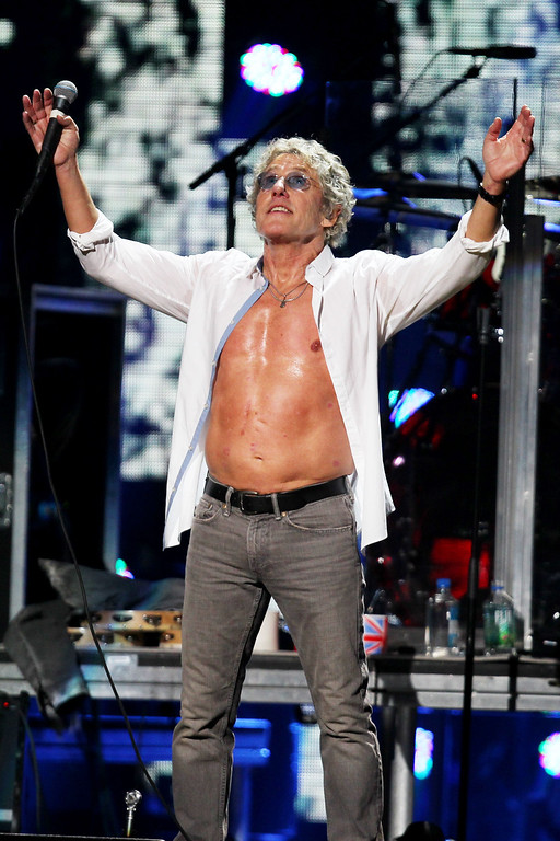 . This image released by Starpix shows Roger Daltrey of The Who at the 12-12-12 The Concert for Sandy Relief at Madison Square Garden in New York on Wednesday, Dec. 12, 2012. Proceeds from the show will be distributed through the Robin Hood Foundation. (AP Photo/Starpix, Dave Allocca)