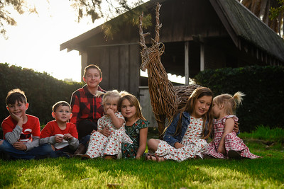 Family in the Fall Home