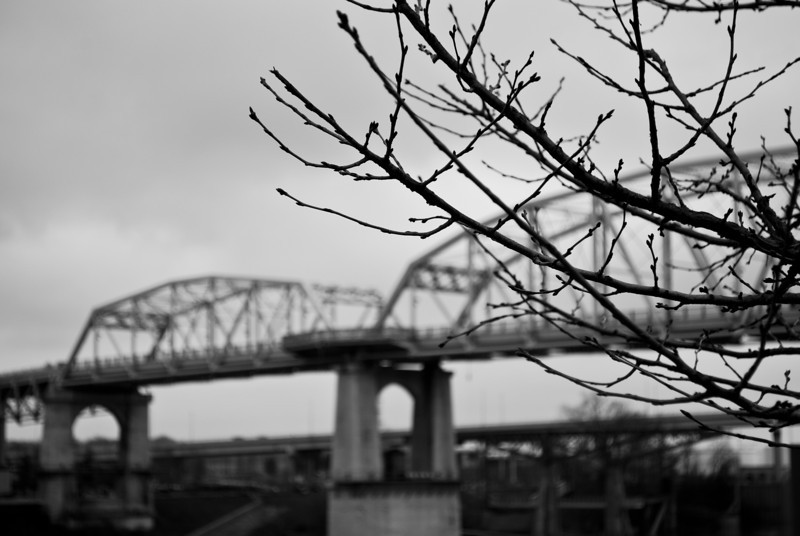 Shelby Street Bridge over the Cumberland River - Nashville, TN