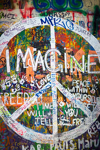 John Lennon Wall. Prague.