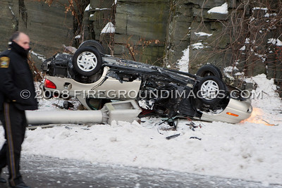 Route 8 Rollover (Trumbull, CT) 12/23/08