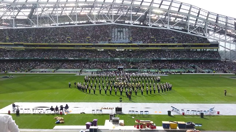 Notre Dame marching band