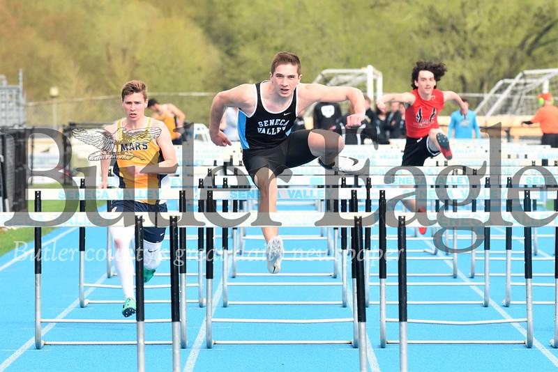 Seneca's Luke Smith 100 meter hurdle