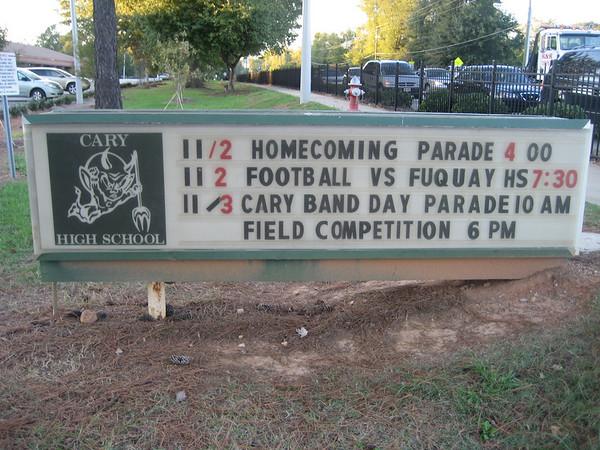 2007-11-02: Homecoming Parade, Senior Night