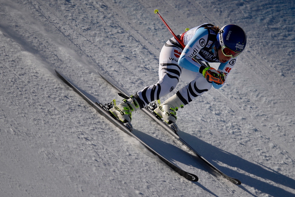. BEAVER CREEK, CO - FEBRUARY 09: Veronique Hronek of Germany competes during the men\'s alpine combined final. FIS Alpine World Ski Championships 2015 on Monday, February 9, 2015. (Photo by AAron Ontiveroz/The Denver Post)
