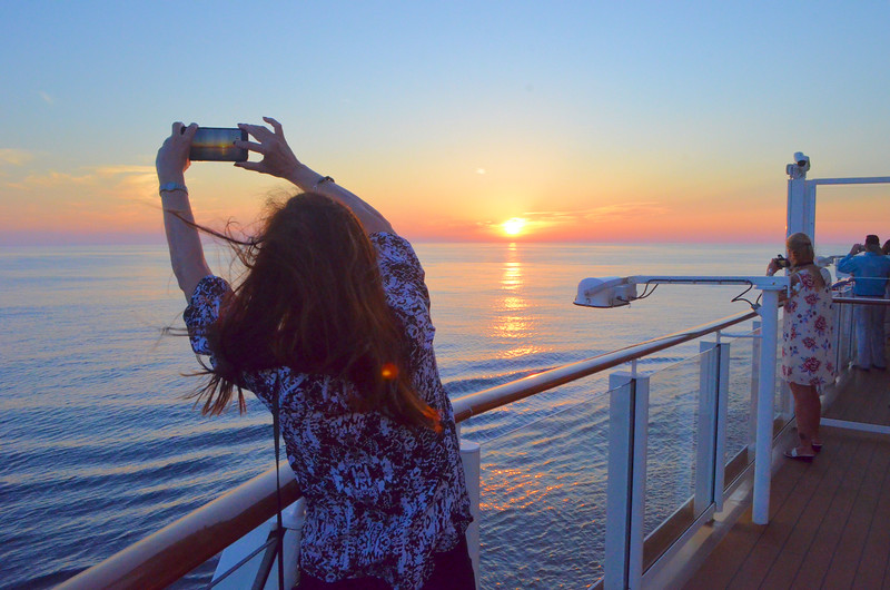 Anne capturing the sunset.