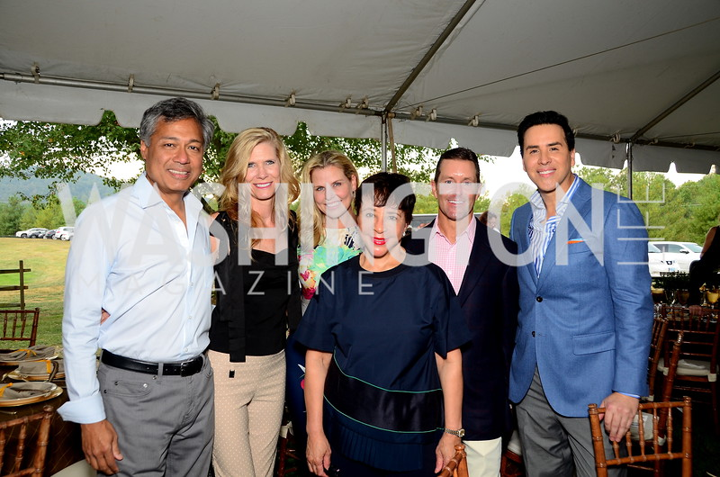 Prem and Donna Devadas, Darrin Mollett, Sheila Johnson, Bill Ballhaus, Will Thomas,  NVTRP Ride to Thrive Polo Classic, Great Meadow, Sep 28, 2019, photo by Nancy Milburn Kleck