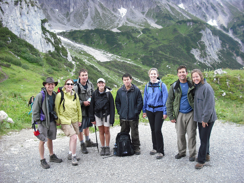 Here is our hiking party: Me, Attache, Cory, Shannon, Eddie, Meredith, John, Melanie
