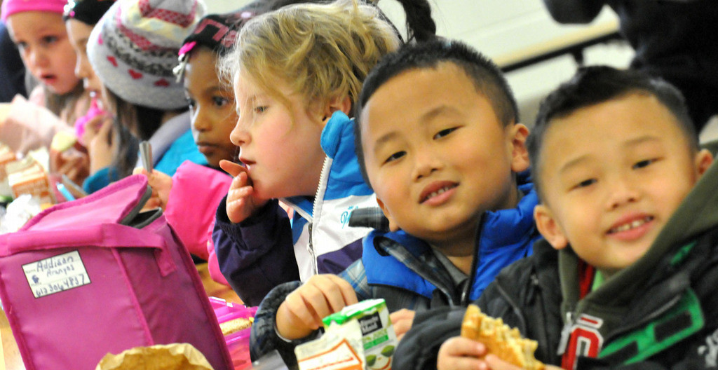 . The faces in the lunchroom are a study in diversity.  Frost Lake Elementary on the eastside of St. Paul is a school that captures growing diversity well Tuesday afternoon October 22, 2013. About 90 per cent of its pupils are students of color.  (Pioneer Press: John Doman)