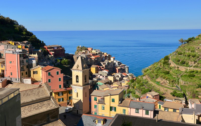 Day Two - We took a morning ferry from Vernazza to Manarola and explored this tiny town. We then took a bus to the even tinier town of Volastra to begin a hike to Corniglia.