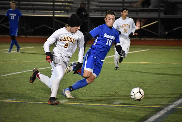 Lenox boys soccer vs. Bromfield in MIAA Division IV state semifinals - 111418