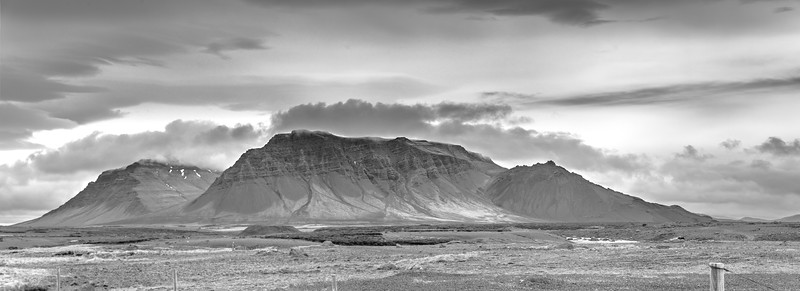 Two Iceland Peaks   Black & White Photography by Wayne Heim