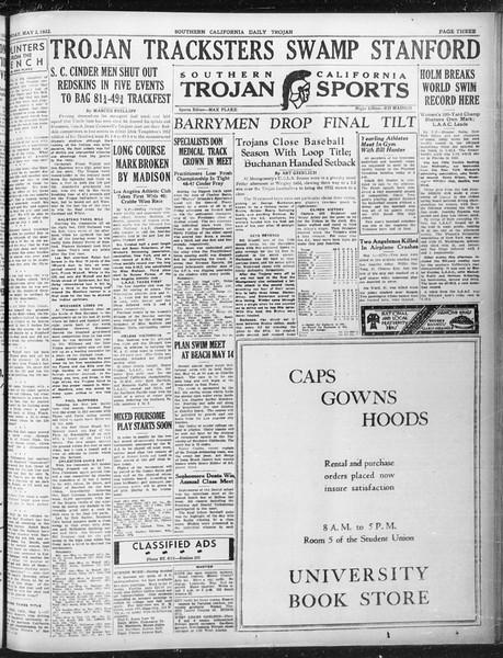 Daily Trojan, Vol. 23, No. 136, May 02, 1932