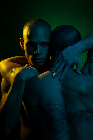 Cedric and Mike Angels in America shoot
