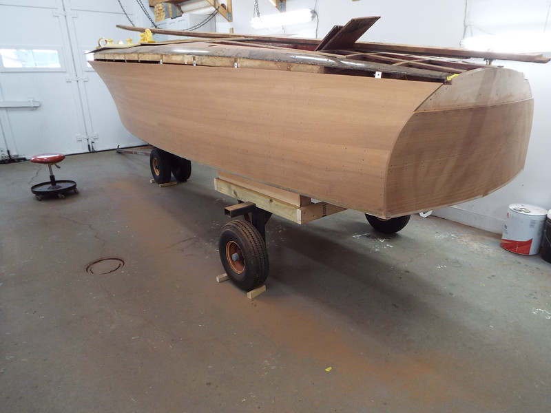 Port side after the first hand sanding.