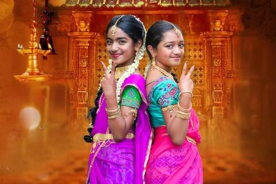Half Saree of Hasini and Asmita