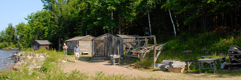 Restored fishing camp on Manitou Island