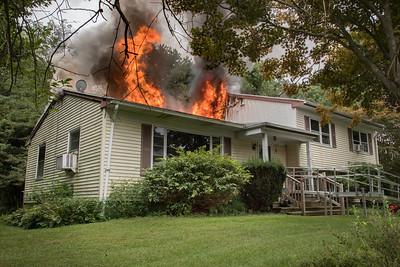 Long Hill Ave. Fire (Shelton, CT) 9/9/18