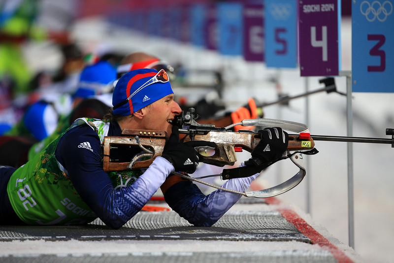 . Russell Currier of the United States competes during the Men\'s 4 x 7.5 km Relay during day 15 of the Sochi 2014 Winter Olympics at Laura Cross-country Ski & Biathlon Center on February 22, 2014 in Sochi, Russia.  (Photo by Richard Heathcote/Getty Images)