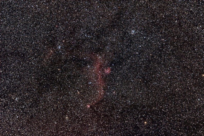 The Seagull Nebula in Monoceros.  M50 Open Cluster to the upper right of the nebula.