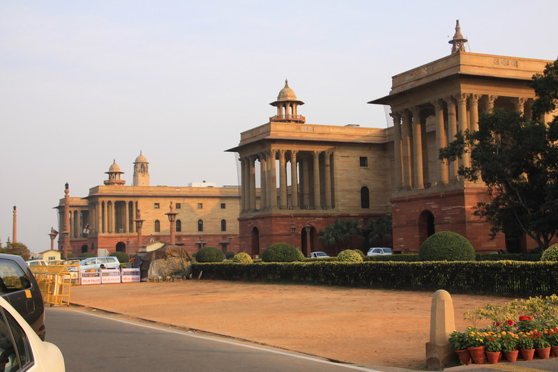 Indian government buildings in Delhi