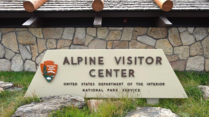 Alpine Visitor Center Monument Sign