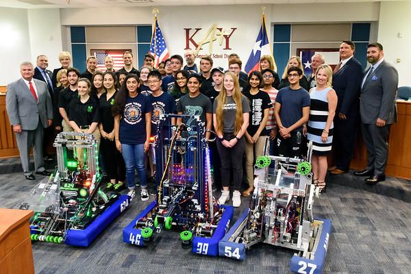KISD Board Mtg Robotics Recognition 6-24-19